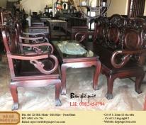 Bàn ghế guột gỗ gụ